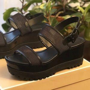 Michael Kors Gillian Platform Wedge Sandals